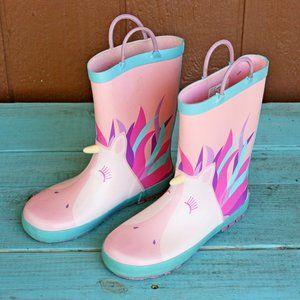 Rainbow Daze Pink Unicorn Rainboots Sz 2/3